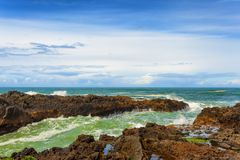 Rocky Shore On Oregon Coast fotografia de stock royalty free