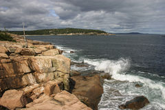 Rocky Shore, parque nacional do Acadia Imagem de Stock Royalty Free