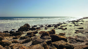 Rocky Shore Perspective Beach Stock Photography