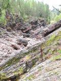 Rocky shore river Stock Photo