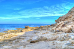Rocky shore in Sardinia in hdr Royalty Free Stock Photos