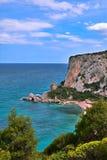 Rocky shore sardinia Italy stock images