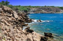 Rocky shore of sea Royalty Free Stock Photo