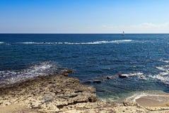 Rocky shore and sea Royalty Free Stock Photo