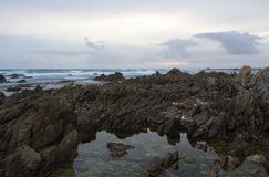 Rocky shore seascape. Royalty Free Stock Photo