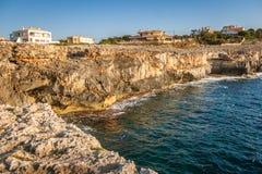 Rocky shore of the Spanish island Mallorca. Rocky shore of the Spanish island Mallorca, Europe Stock Photography