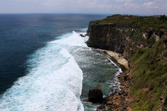 Rocky shore. Uluwatu. Bali island Royalty Free Stock Photos