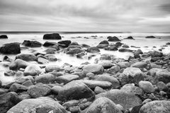 Rocky shore. Royalty Free Stock Photo
