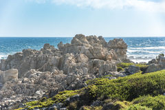Rocky shore Western Cape, South Africa royalty free stock photos
