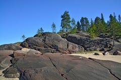 Rocky shore of the White sea. North Karelia, Russia Stock Photography