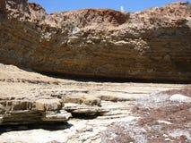 Rocky Shoreline. Rocky Ocean Shoreline with Layered Erosion Stock Photography