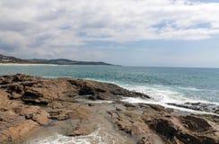 Rocky Shoreline Against Ocean Sky Coastal Landscape Royalty Free Stock Photo