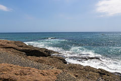 Rocky Shoreline Against Ocean Sky Coastal Landscape Royalty Free Stock Photos