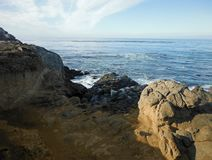 Rocky Shoreline. In Cayucos, California Royalty Free Stock Image