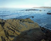 Rocky Shoreline. In Cayucos, California Royalty Free Stock Photography