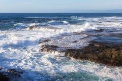 Rocky shoreline in the coast of California Royalty Free Stock Photography