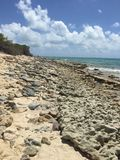 Rocky Shoreline of Grand Turk Stock Images