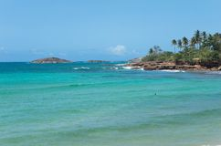 Rocky Shoreline and Islands of Puerto Rico Royalty Free Stock Photo