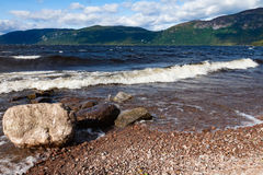 Rocky Shoreline of Loch Ness Royalty Free Stock Images