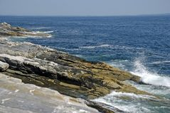 Rocky Shoreline of Maine (horizontal) Royalty Free Stock Photo