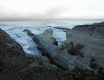 The Rocky Shoreline. At Montana de Oro State Park, Los Osos, California Stock Images