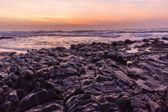 Rocky Shoreline Ocean Dawn Royalty Free Stock Photo