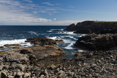 Rocky Shoreline in the Outer Hebrides Royalty Free Stock Image