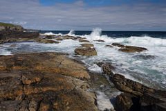 Rocky Shoreline in the Outer Hebrides Stock Photography