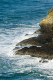 Rocky shoreline of the Pacific Ocean at Cape Meares Royalty Free Stock Photos