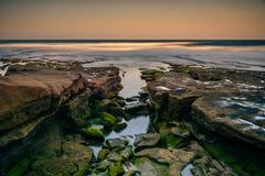 Rocky shoreline of San Diego stock photo