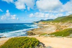 Rocky shoreline in Sardinia Stock Photo