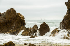 Rocky Shoreline. Section of the jagged rocky shoreline of Laguna Beach, California Stock Photography