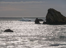 Rocky shoreline, southern Oregon coast Stock Photography