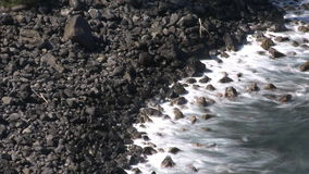 Rocky Shoreline - Time Lapse. Time Lapse of Hawaiian Shoreline stock footage