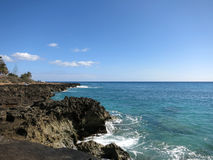 Rocky Shoreline on Waianae Coastline Stock Photography