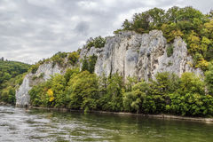 The rocky shores of the Danube, Germany Stock Photos
