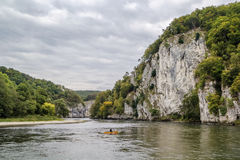 The rocky shores of the Danube, Germany Stock Images