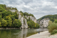 The rocky shores of the Danube, Germany Stock Image
