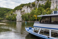 The rocky shores of the Danube, Germany. The rocky shores of the Danube near Kelheim, Germany stock image