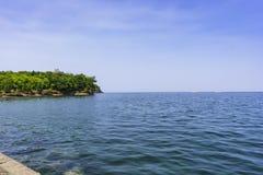 Rocky Shores de la isla de Presque Foto de archivo libre de regalías