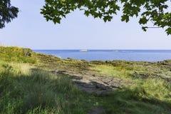 Rocky Shores de la isla de Presque Fotografía de archivo libre de regalías