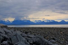 Rocky Shores del home run, Alaska Imagen de archivo libre de regalías
