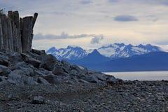 Rocky Shores del home run, Alaska Fotos de archivo