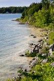 Rocky shores of Georgian Bay. The rocky shores of Georgian Bay, taken in Tobermory, Ontario, Canada Stock Photo