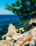 Rocky shores, Greece Royalty Free Stock Photography