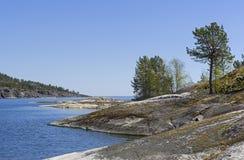 Rocky shores of Lake Ladoga Royalty Free Stock Image