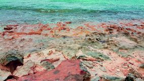 Rocky shores. Rocky ocean view on Grand Turk in the Turk and Caicos Islands Royalty Free Stock Images
