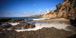 Rocky shores of Victoria Beach in Laguna Beach. California on a sunny day Stock Photography