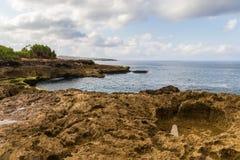 Free Rocky Shorline, Devil`s Tear, Nusa Lembongan, Bali. Rocks And Tidepool In Forground; Ocean, Shorline, Clouds, Sky Beyond. Stock Photos - 168086313