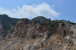 Rocky slope Royalty Free Stock Images